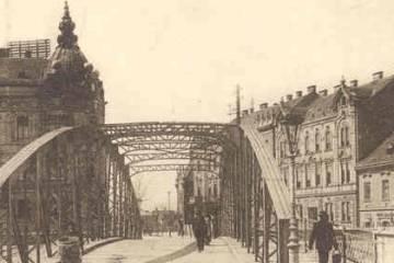 A Rába kettős híd 1915 körül