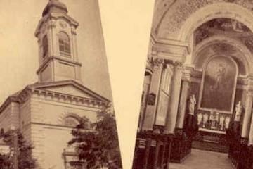 A katolikus templom az 1930-as években 2