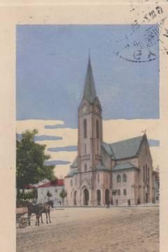 A református templom az 1910-es években