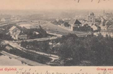 Újváros és Sziget az 1890-es években