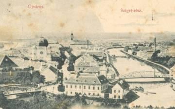 Újváros és Sziget az 1890-es években 2
